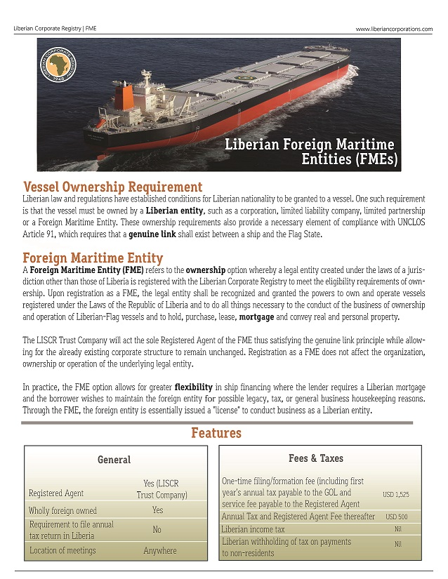 Foreign Maritime Entity (FME)