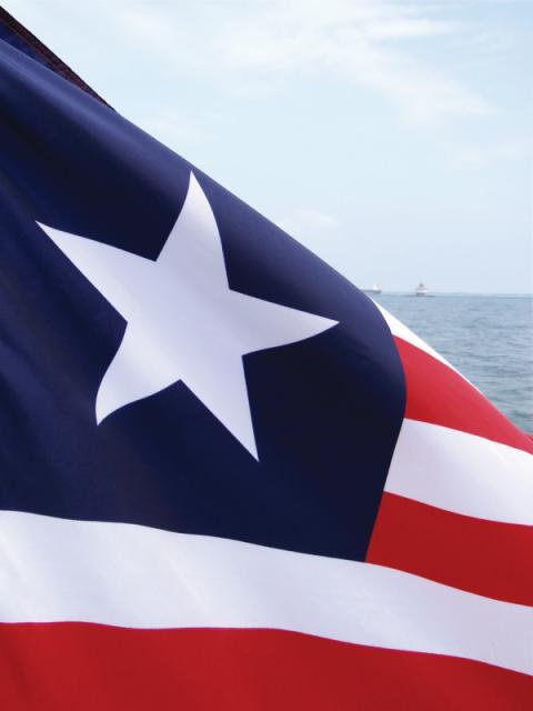 Photo of Liberian Flag